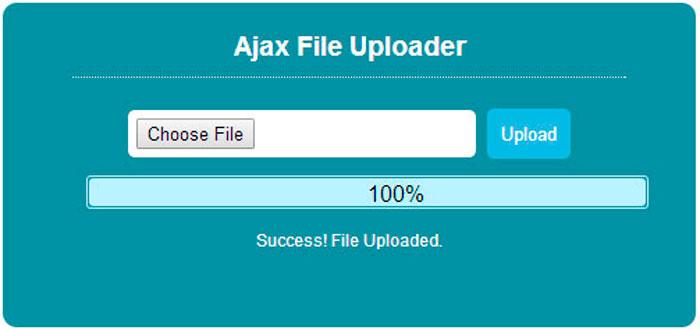 Mini formulario de subida de archivos en AJAX  Programación en